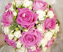 Kulate svatební kytice