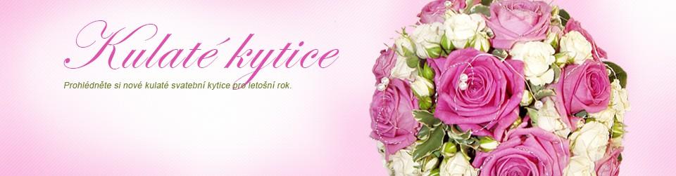 Kulaté svatební kytice
